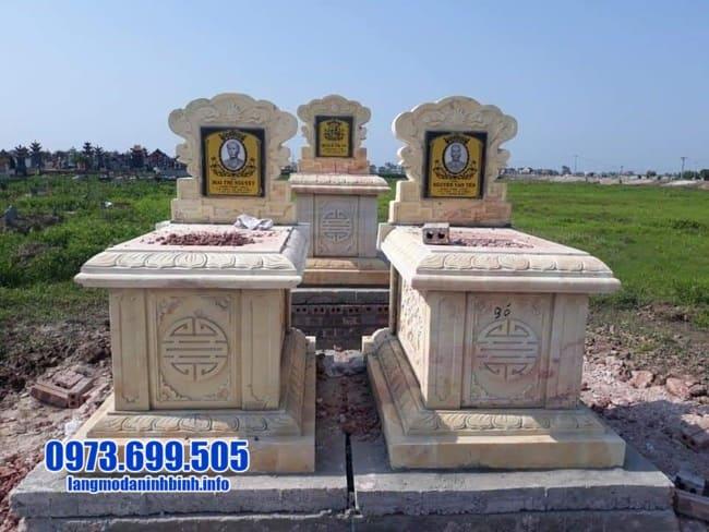Mẫu mộ đôi đá vàng đẹp