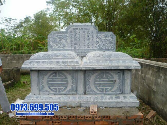 Mẫu mộ đôi đá xanh đẹp