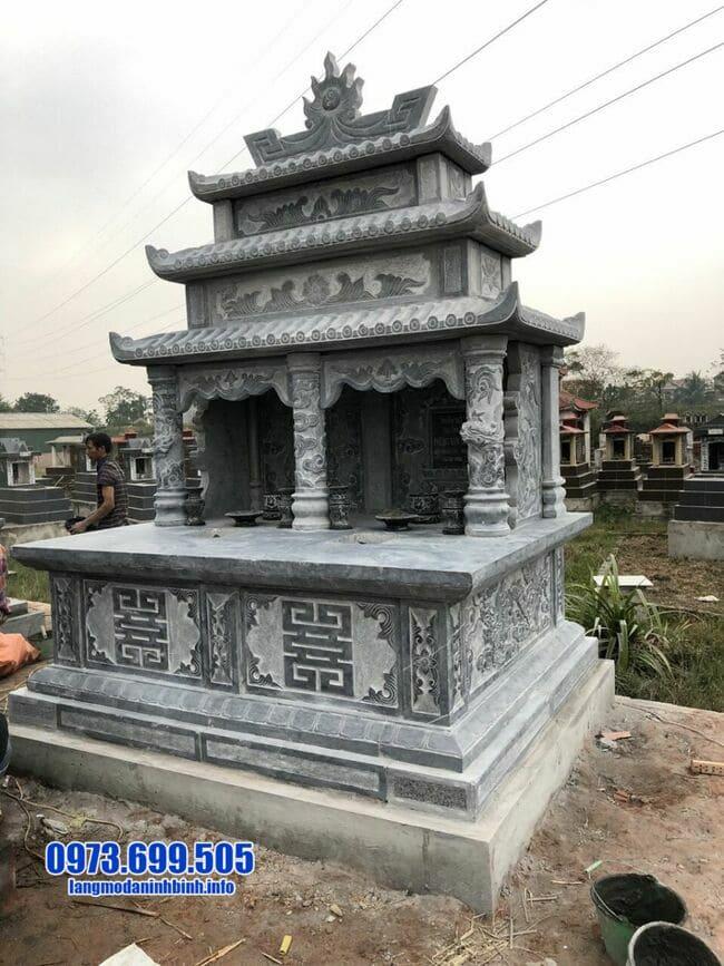Mẫu mộ đôi ba mái đá ninh bình