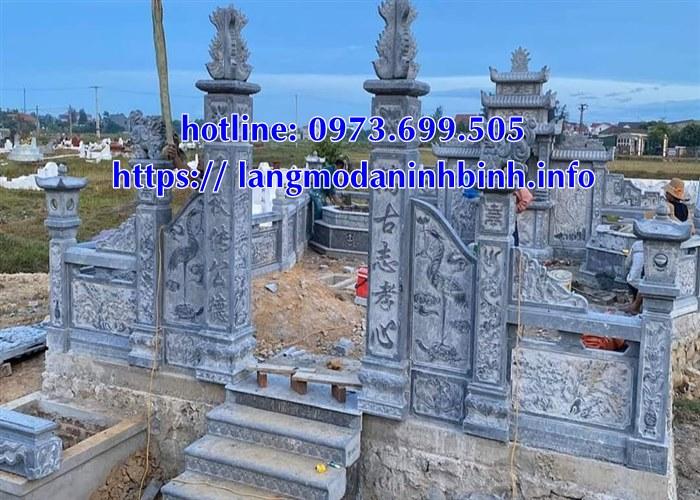 Mẫu lăng mộ bằng đá mới nhất năm 2020