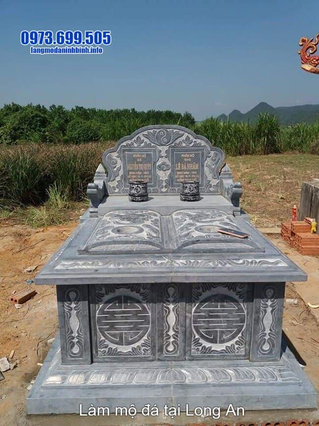 làm mộ đá đôi tại long an