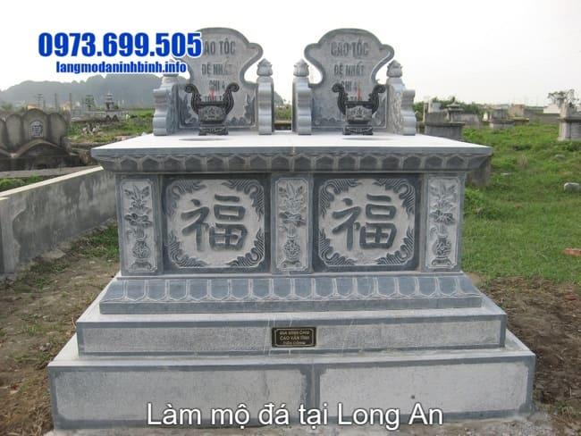 lắp đặt mộ đá đôi tại long an