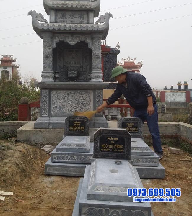 lắp đặt mộ đá tam cấp tại bình phước