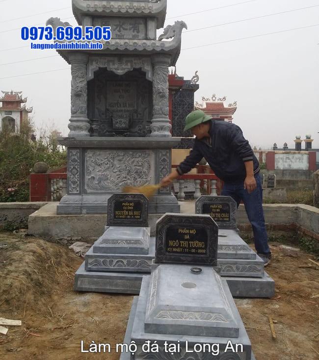 lắp đặt mộ đá tam cấp tại long an