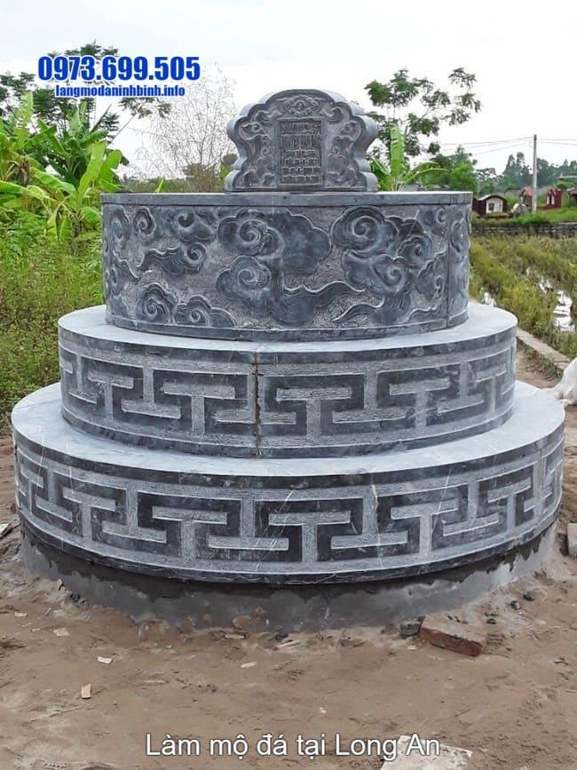 lắp đặt mộ đá tròn tại long an