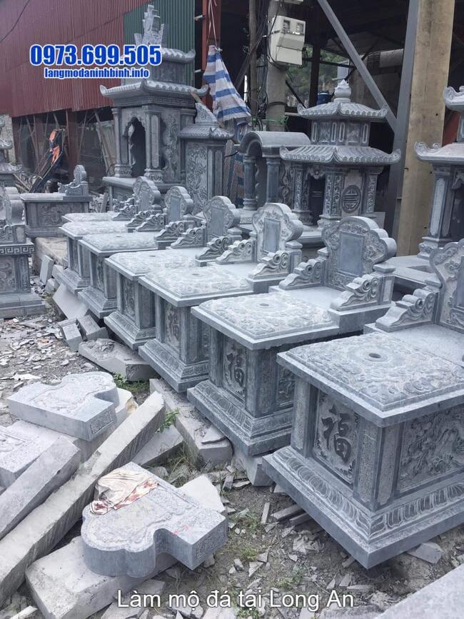 lắp đặt mộ bành đá tại long an