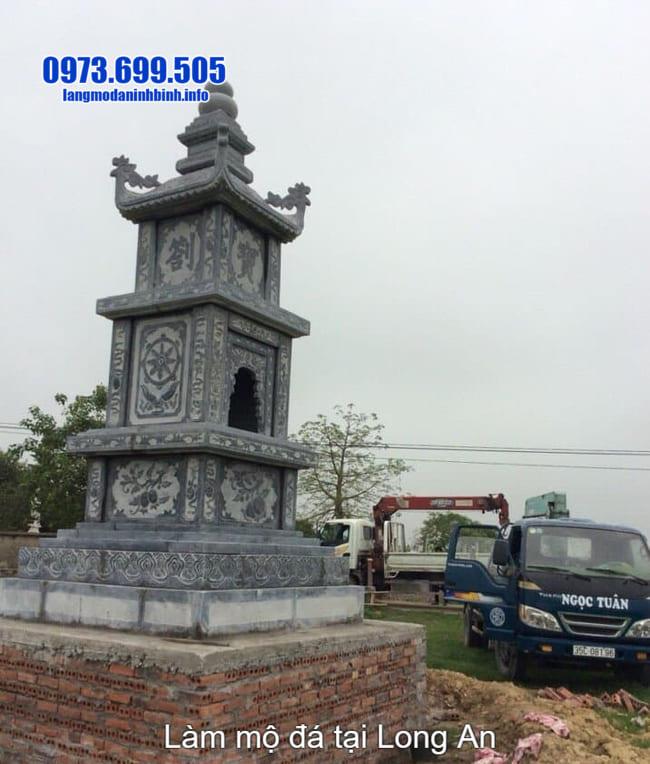 lắp đặt mộ tháp đá tại long an