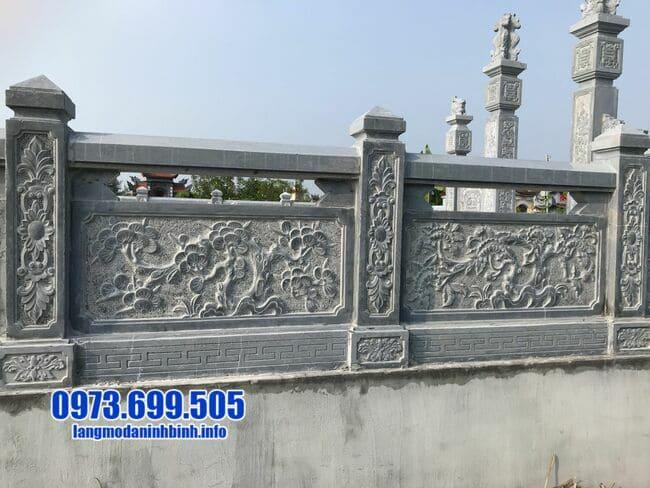 lan can bằng đá khu lăng mộ