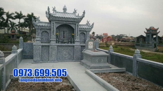 mẫu lăng mộ bằng đá xanh
