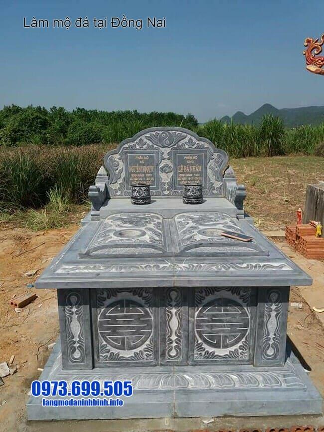 mẫu mộ đá đôi tại đồng nai