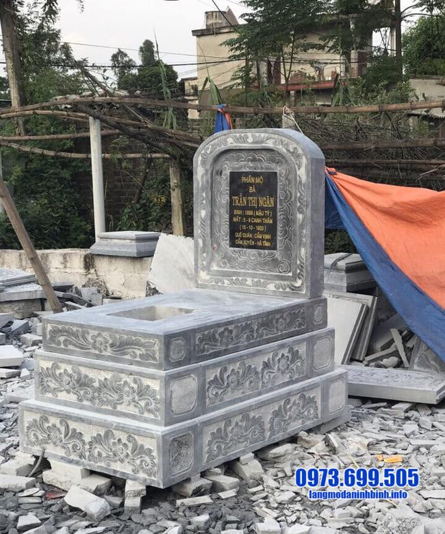 mẫu mộ đá tam cấp tại bình phước