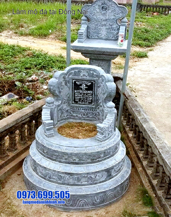 mẫu mộ đá tròn tại đồng nai