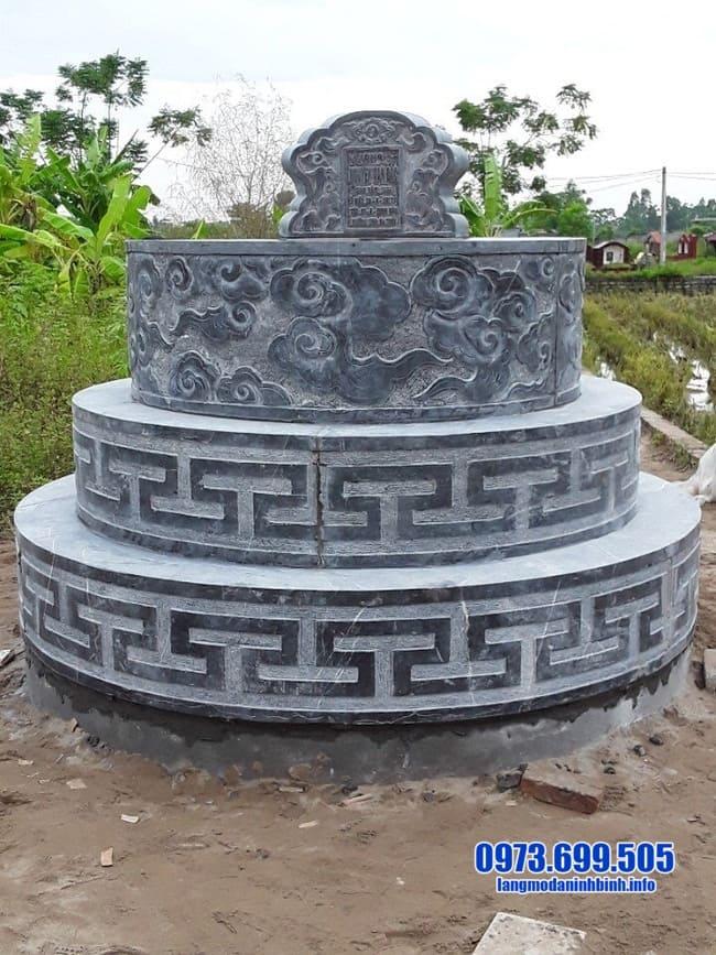 mẫu mộ đá tròn tại bình phước
