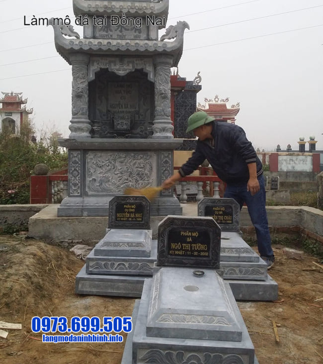 mẫu mộ tam cấp đá tại đồng nai