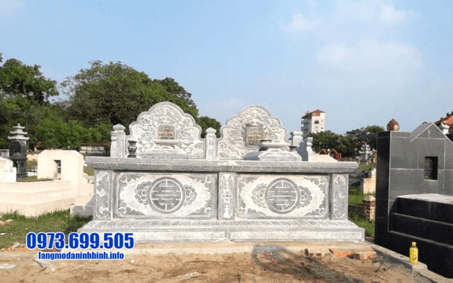 mộ đôi đá mỹ nghệ tại Quảng Bình