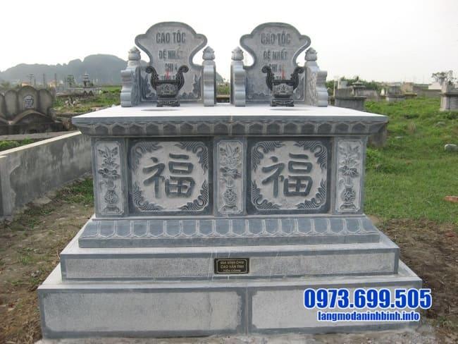 mộ đôi bằng đá đẹp tại bình phước
