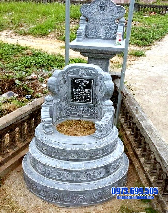 mộ tròn đá tại bình phước