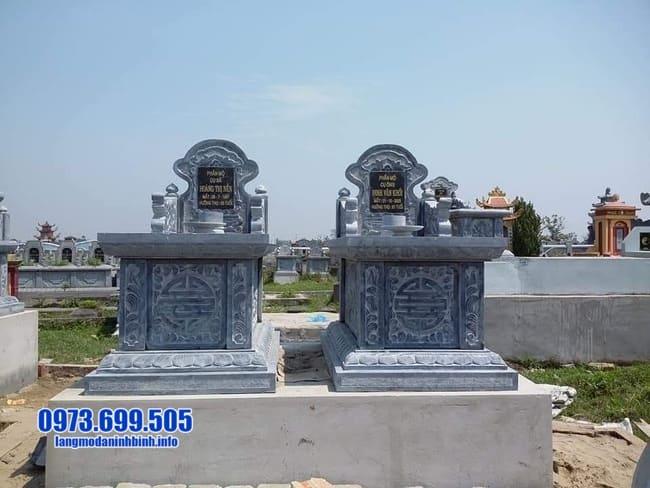 mộ đôi đá mỹ nghệ tại Quảng Trị
