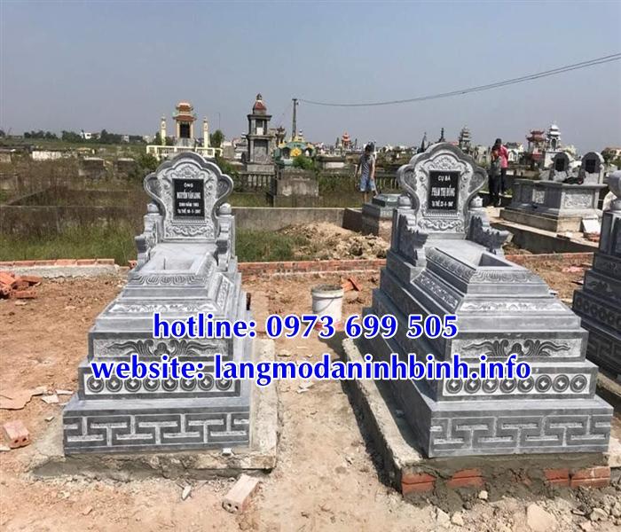 Mẫu mộ tam sơn đá, mộ đá không mái đẹp tại Bắc Giang