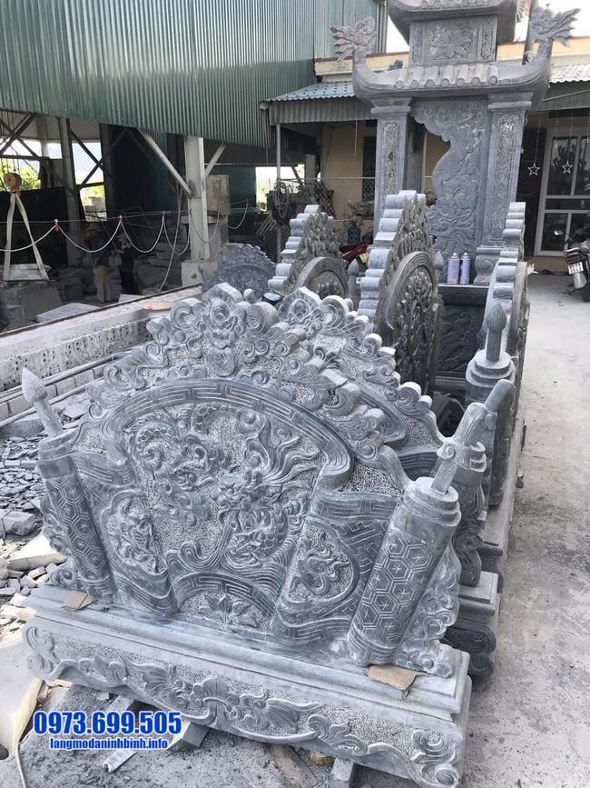 mẫu cuốn thư bằng đá tại Hưng Yên