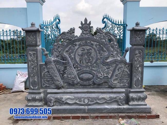 mẫu cuốn thư bằng đá tại Thái Bình đẹp