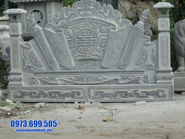 mẫu cuốn thư bằng đá tại Thái Bình
