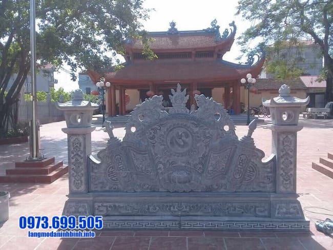 mẫu cuốn thư đá tại Thái Bình