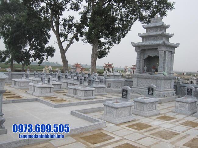mẫu khu lăng mộ bằng đá đẹp nhất tại Quảng Bình