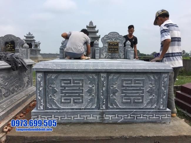mẫu mộ đá đôi đẹp tại Huế