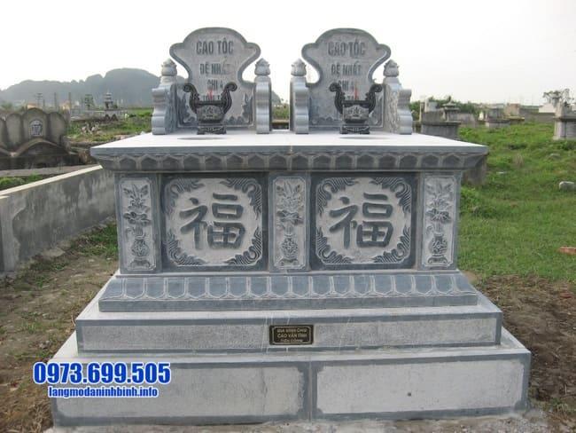 mẫu mộ đôi bằng đá đẹp tại Quảng Nam