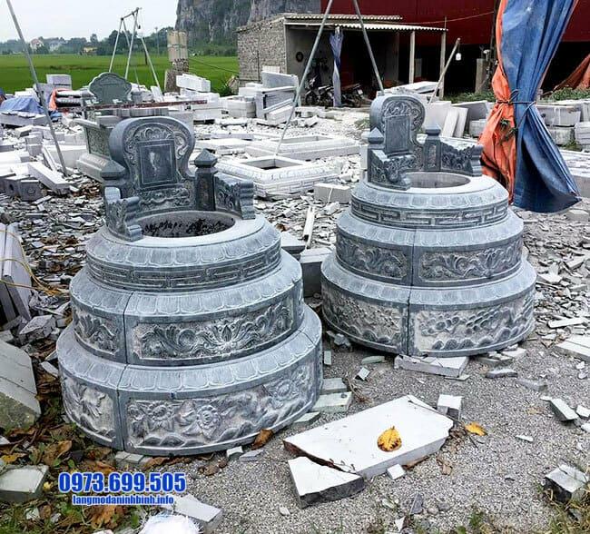 mộ được làm từ đá xanh thanh hóa