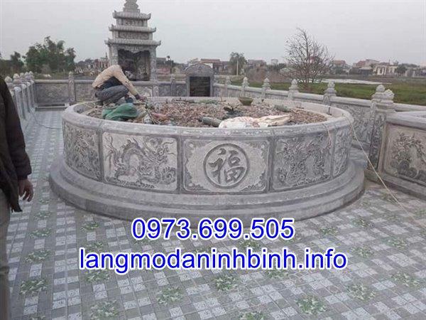 Địa chỉ xây lắp các mẫu mộ hình tròn bằng đá uy tín giá rẻ nhất hiện nay