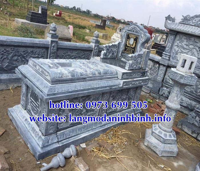 Mộ bành đá - Mẫu mộ bành bằng đá đẹp tại Bắc Giang
