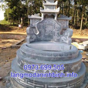 Mộ tròn đá đẹp - Giá mẫu mộ tròn đá mới nhất tại Ninh Binh