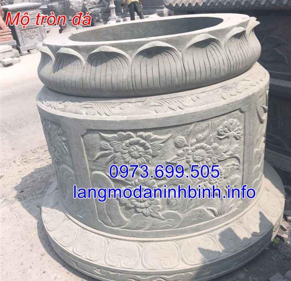 Báo giá mộ tròn đá Ninh Bình chính xác nhất hiện nay