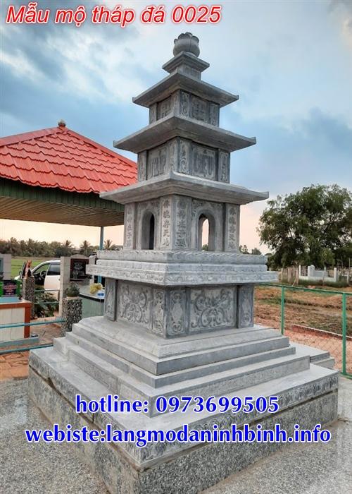 Hình ảnh mẫu mộ tháp bằng đá mới nhất hiện nay