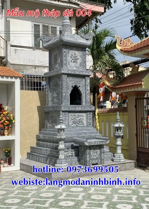 Mẫu mộ tháp bằng đá đẹp để tro cốt tại Kom Tum