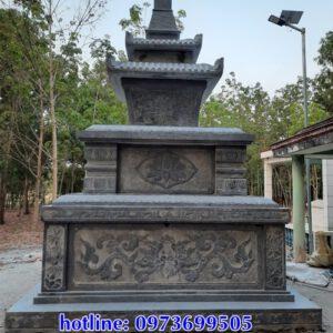 Mẫu mộ tháp đá đẹp tại Lâm Đồng - Mộ tháp phật giáo bằng đá