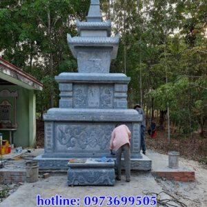Mẫu mộ tháp phật giáo bằng đá đẹp tại thành phố Hồ Chí Minh
