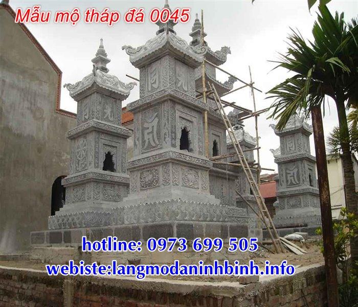 Giá mẫu mộ tháp đá, mộ tháp phật giáo bằng đá tại Sài Gòn