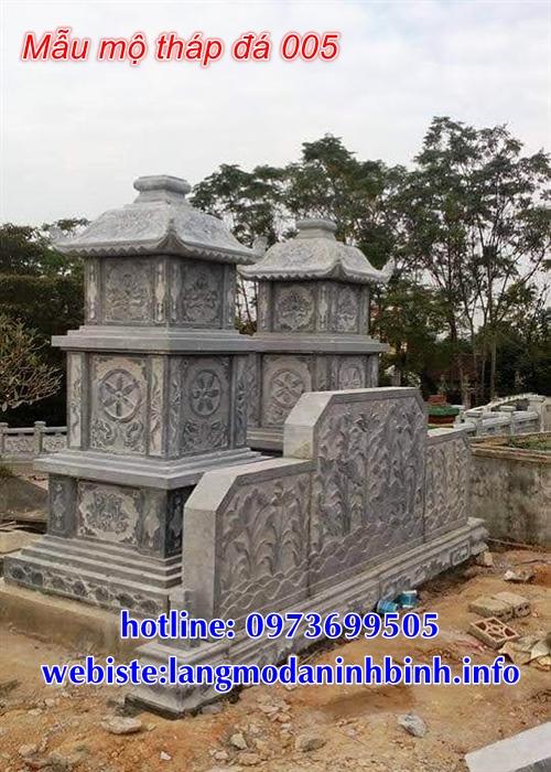 Mẫu mộ tháp phật giáo bằng đá đẹp tại Gia Lai