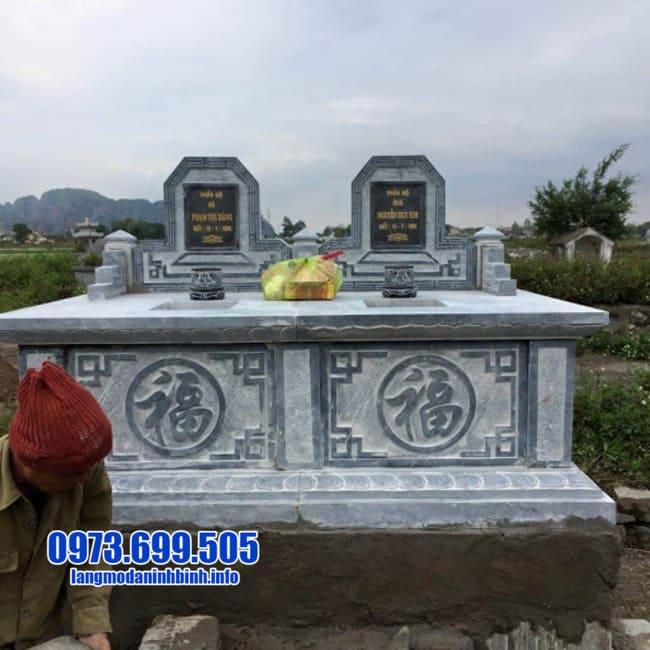 mẫu mộ đá đôi đẹp nhất tại Đà Nẵng