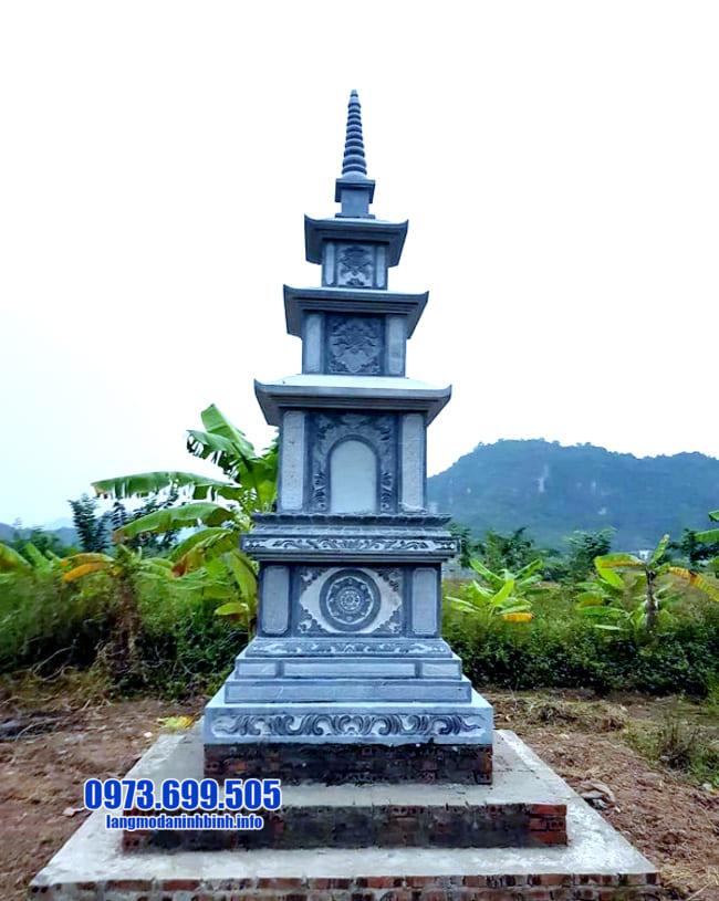 mẫu mộ đá hình tháp tại Long An đẹp nhất