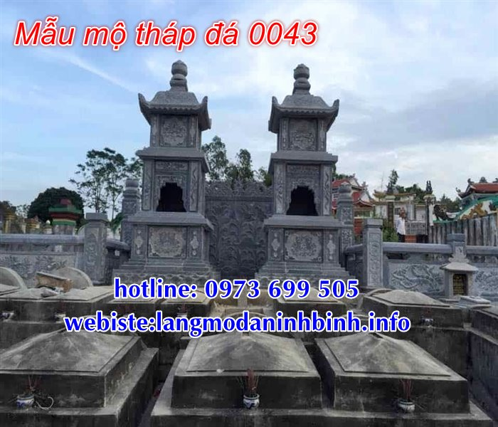 Mẫu mộ tháp đá đẹp tại Sài Gòn - Mộ tháp phật giáo bằng đá