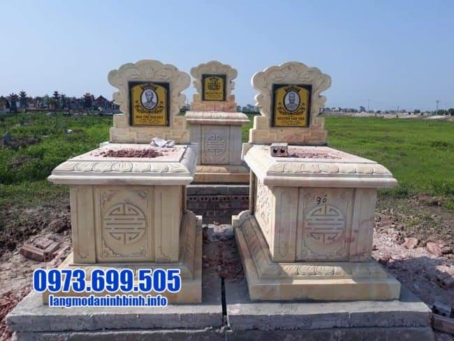 mộ đôi bằng đá vàng đẹp tại Đà Nẵng