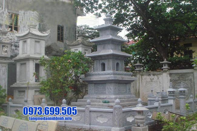 mộ tháp đá tại Long An đẹp