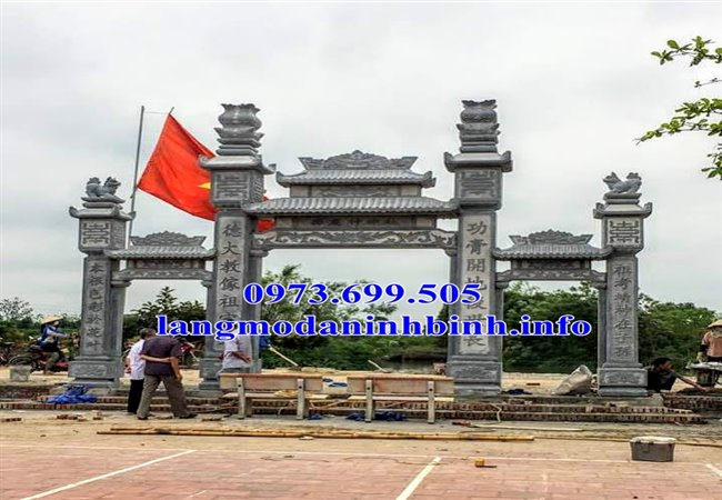 Cổng đá - 35 mẫu cổng bằng đá dẹp nhất hiện nay tại Bắc Ninh