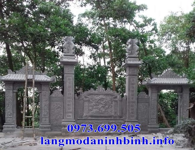 Giá các mẫu cổng bằng đá, cổng tam quan đá nhà thờ họ mới nhất hiện nay tại Vĩnh Phúc