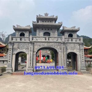 Hình ảnh mẫu cổng đá, cổng tam quan bằng đá đẹp nhất hiện nay tại Bắc Ninh