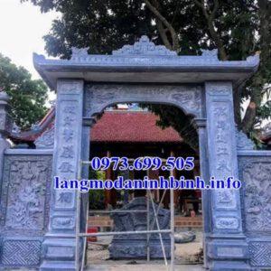 Mẫu cổng bằng đá đẹp tại Thái Bình - Cổng tam quan đá đẹp tại Thái Bình